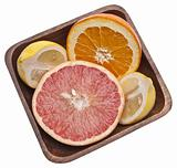 Bowl of Sliced Citrus