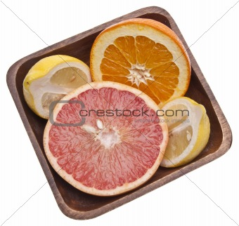 Bowl of Sliced Citrus