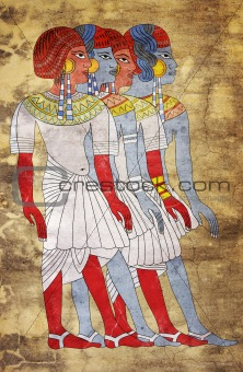 Fresco of Women of Ancient Egypt