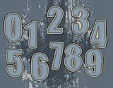 set of numbers for textile