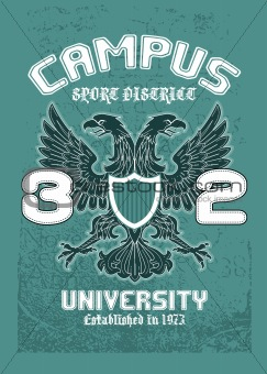 campus eagle t-shirt design