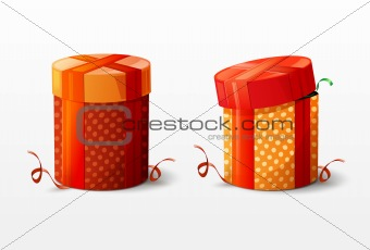 Isolated vector Christmas boxes