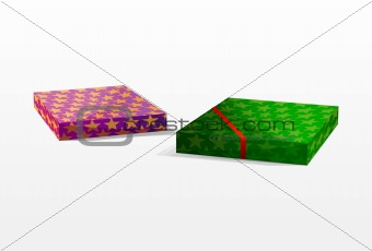 Vector Christmas boxes