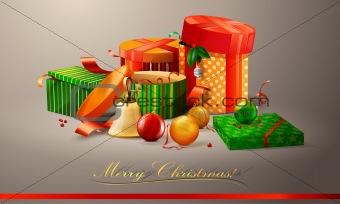 Vector Christmas card illustration