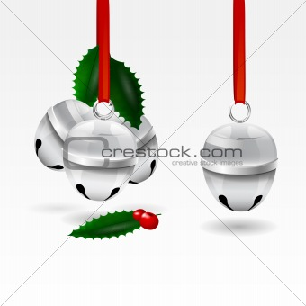 Isolated vector Christmas sleigh bells