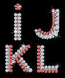 Set of diamond alphabetic letters. Vector (3)