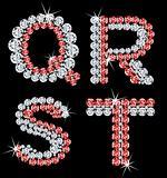 Set of diamond alphabetic letters. Vector (5)