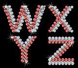 Set of diamond alphabetic letters. Vector (7)