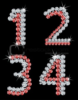 Set of diamond alphabetic figure. Vector