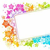 Floral colorful frame 15