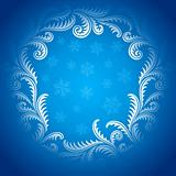Frost Pattern frame. Winter window style border.