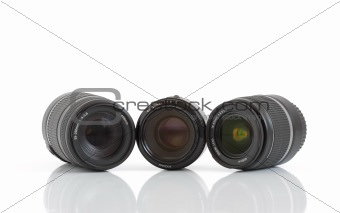 A set of three lenses for DSLR camera