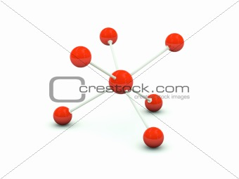 Molecule isolated on white