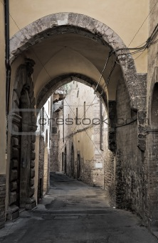 Alleyway. Spello. Umbria.
