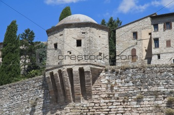 Ancient walls. Spello. Umbria.