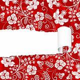 Torn floral paper
