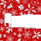 Torn christmas paper