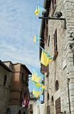 Historic palace. Corciano. Umbria.