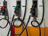 Three Gas Pump Nozzles