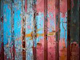 Color paint on metal wall