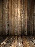 Grunge wooden room