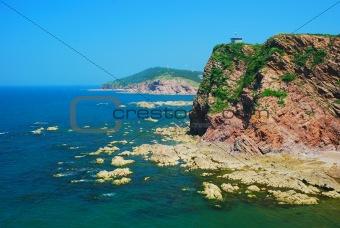 Cliff at sea shore