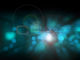 Abstract of black and blue bokeh