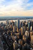 Hudson River skyline aerial