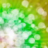 Abstract of Green Aura White bokeh