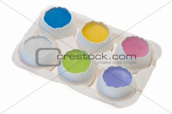 Six Eggs with Pastel Yolks