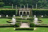 Fountains in garden