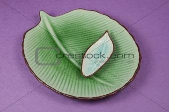 Pair of Leaf Plates