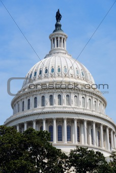 Capitol Hill Building dome closeup, Washington DC
