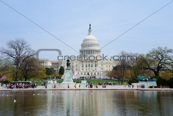 Capitol Building with reflection, Washington DC