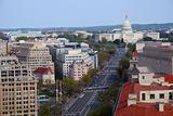 capitol hill building aerial view, Washington DC