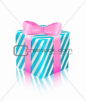 blue pink gift box icon