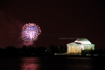 Washington DC fireworks show