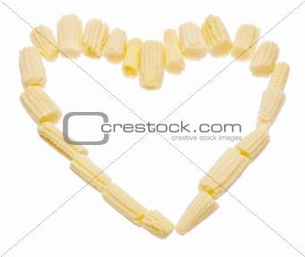 Baby Corn Heart