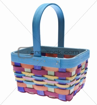 Brightly Colored Easter Basket