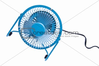 Bright Blue Fan Spinning