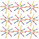 Plastic Fork Starburst Background