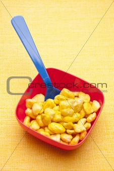 Cereal in a Vibrant Bowl