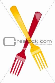 Pair of Plastic Forks