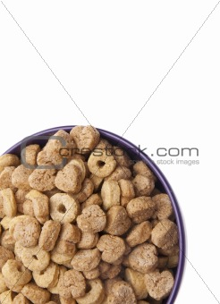 Breakfast Cereal with Heart Shapes Border Image