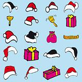 Set vector santa claus