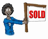 Real Estate African-American Woman Agent