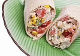 Close Up of Southwestern Chicken Salad Wrap