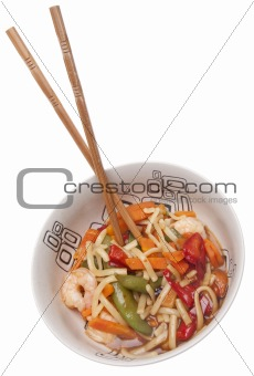 Asian Shrimp with Noodles