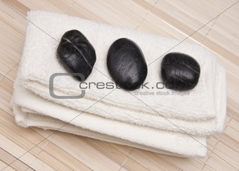 Towel with Massage Stones