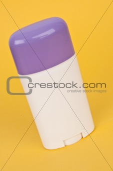 Blank Deodorant Container with a Purple Top